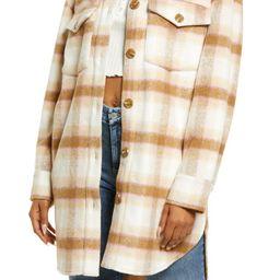 Brushed Plaid Shirt Jacket   Nordstrom   Nordstrom