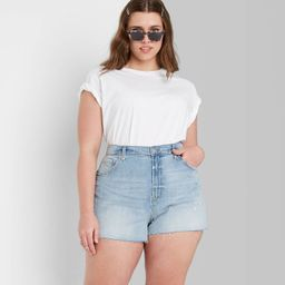 Women's High-Rise Mom Jean Shorts - Wild Fable™   Target