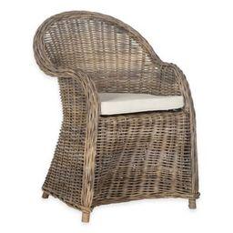 Safavieh Zane Wicker Club Chair in Grey | Bed Bath & Beyond