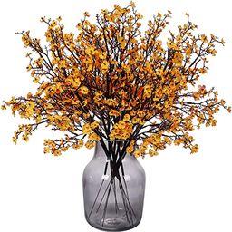 Momkids 6 Pcs Fall Faux Flowers Fake Babys Breath Flower Bulk Artificial Gypsophila Bouquet Silk ... | Amazon (US)
