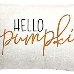 GTEXT 20x12 inch Fall Throw Pillow Cover Hello Pumpkin Cushion Cover Autumn Decor Fall Pumpkins P... | Amazon (US)