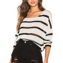 superdown Adriana Knit Sweater in Black & White from Revolve.com   Revolve Clothing (Global)
