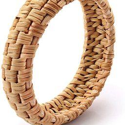 HEIDKRUEGER Rattan Bracelet for Women Handmade Lightweight Straw Wicker Braid Woven Bangle Bracel...   Amazon (US)