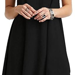 TINYHI Women's Swing Loose T-Shirt Fit Comfy Casual Flowy Cute Swing Tunic Dress   Amazon (US)