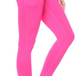 AUU High Waisted Leggings with Pockets Workout Leggings for Women Stretch Yoga Pants Buttery Soft   Amazon (US)