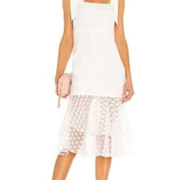 Lovers + Friends Day Keeper Midi Dress in White from Revolve.com | Revolve Clothing (Global)