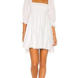 FAITHFULL THE BRAND Arles Mini Dress in Plain White from Revolve.com | Revolve Clothing (Global)