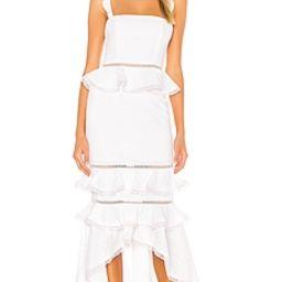 NBD Haze Midi Dress in Ivory from Revolve.com | Revolve Clothing (Global)