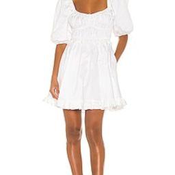 For Love & Lemons Jackson Mini Dress in Ivory from Revolve.com | Revolve Clothing (Global)