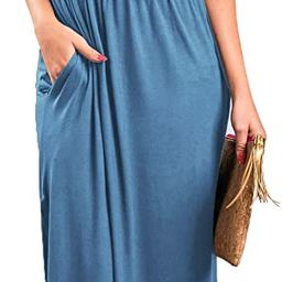 Sarin Mathews Womens Off The Shoulder Ruffle Party Dress Casual Side Split Beach Long Maxi Dresse...   Amazon (US)