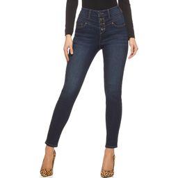 Sofia Jeans by Sofia Vergara Women's Rosa Super High-Rise Curvy Ankle Jeans | Walmart (US)