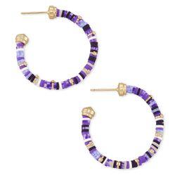 Reece Gold Small Hoop Earrings in Purple Mix   Kendra Scott