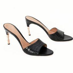 Gucci vintage bamboo heel mule sandals | Etsy (US)