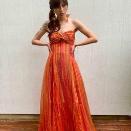 Vintage 90s Halston Designer Silk Strapless Party Cocktail Formal train gown Maxi dress XS S   Etsy (US)