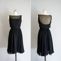 1960s By Candlelight silk chiffon dress   vintage 60s 50s black silk dress   60s cocktail party d...   Etsy (US)