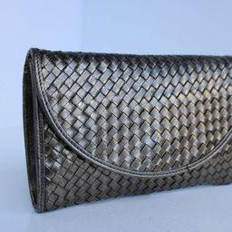 Early Vintage BOTTEGA VENETA INTRECCIATO Platinum Bronze Mini Clutch Bag Purse Italy   Etsy (US)