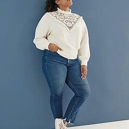 Super High Waisted Ripped Raw Hem Slim Jeans | Express
