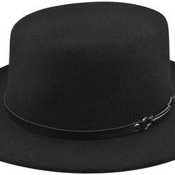 EINSKEY Women's Felt Fedora Hat, Wide Brim Panama Hat with Belt Buckle Trilby Hat   Amazon (US)