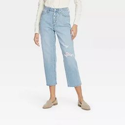 Women's Super-High Rise Vintage Cropped Straight Jeans - Universal Thread™ | Target