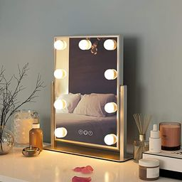 FENCHILIN Hollywood Mirror with Light Large Lighted Makeup Mirror Vanity Makeup Mirror Smart Touc...   Amazon (US)