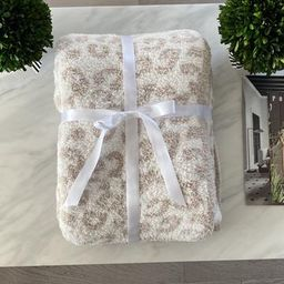 The Styled Collection Buttery Leopard Blanket   The Styled Collection
