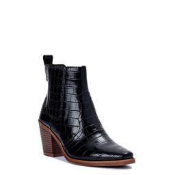 Scoop Women's Block Heel Croco Western Boot | Walmart (US)