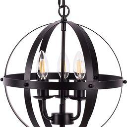 Vintage Pendant Hanging Light, Farmhouse Chandelier Rustic 3 Light Adjustable Hanging Industrial ... | Amazon (US)