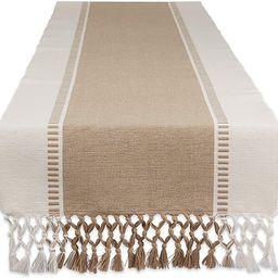 DII Dobby Stripe Woven Table Runner, 13x108, Stone | Amazon (US)