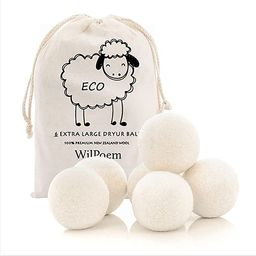WilPoem New Zealand Nature Wool Dryer Balls - Fabric Softener Ball for Sensitive Skin - Helps Pre... | Amazon (US)