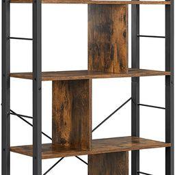 VASAGLE ALINRU Bookcase, 4-Tier Industrial Bookshelf, Floor Standing Storage Rack in Living Room ... | Amazon (US)
