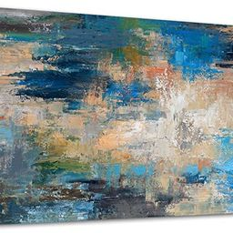 Large Abstract Wall Art Contemporary Ocean Canvas Wall Art Modern Abstract Seascape Artwork Canva...   Amazon (US)