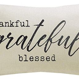 """Meekio Farmhouse Pillow Covers with Thankful Grateful Blessed Quote 12"""" x 20"""" Farmhouse Rustic D...   Amazon (US)"""