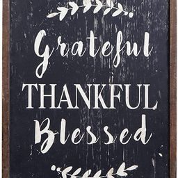 Grateful Thankful Blessed Wall Decor Large Vertical Wooden Framed Home Decor Hanging Rustic Farmh...   Amazon (US)