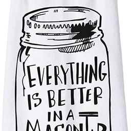 """Primitives by Kathy LOL Made You Smile Dish Towel, 28"""" x 28"""", Everything is Better in a Mason Jar   Amazon (US)"""