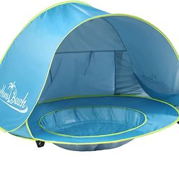 Monobeach Baby Beach Tent Pop Up Portable Shade Pool UV Protection Sun Shelter for Infant | Amazon (US)