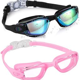 Aegend Kids Swim Goggles, Pack of 2 Swimming Goggles for Children Boys & Girls Age 3-9 | Amazon (US)
