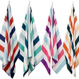 Exclusivo Mezcla Microfiber Beach Towel, Oversized Striped Sports/Swimming/Pool Towel for Kids an... | Amazon (US)