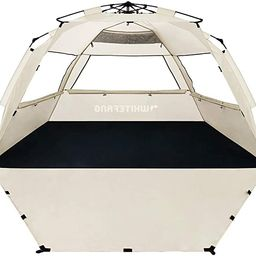 WhiteFang Deluxe XL Pop Up Beach Tent Sun Shade Shelter for 3-4 Person, UV Protection, Extendable... | Amazon (US)