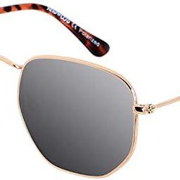 Polarized Sunglasses for Women Men Small Trendy Square Mirrored Vintage Sun Glasses Hexagonal AND...   Amazon (US)