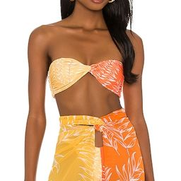 Neves Top in Orange & Yellow in Orange & Yellow Palm | Revolve Clothing (Global)