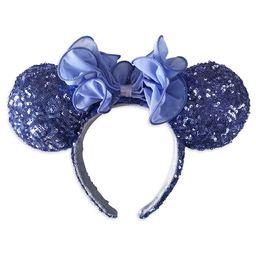 Minnie Mouse Sequined Ear Headband – Iris   shopDisney