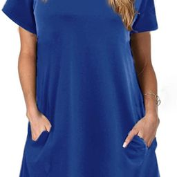 Alaster Women's Casual Summer T Shirt Dress Loose Short Sleeve Tunic Dress with Pocket for Wome...   Amazon (US)