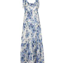 Aliane floral cotton voile midi dress   Mytheresa (US)