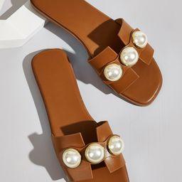 Faux Pearl Decor Sliders | SHEIN