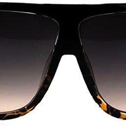 Oversized Style Sunglasses Flat Top Square Unisex Modern Fashion UV 400 | Amazon (US)