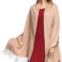 Pashmina Shawls and Wraps for Women - PoilTreeWing Solid Color Cashmere Scarfs | Amazon (US)