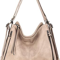 Hobo Bags for Women Pu Leather Purses and Handbags Large Hobo Purse with Tassel (KL2229 401#BLACK... | Amazon (US)