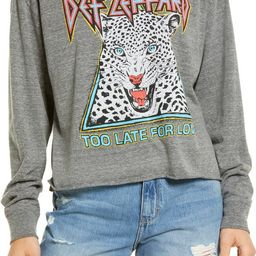 Women's Def Leppard Too Late for Love Long Sleeve Crop Graphic Tee   Nordstrom