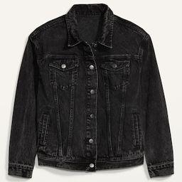 Boyfriend Black Jean Jacket for Women | Old Navy (US)