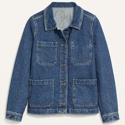 Medium-Wash Jean Chore Jacket for Women | Old Navy (US)